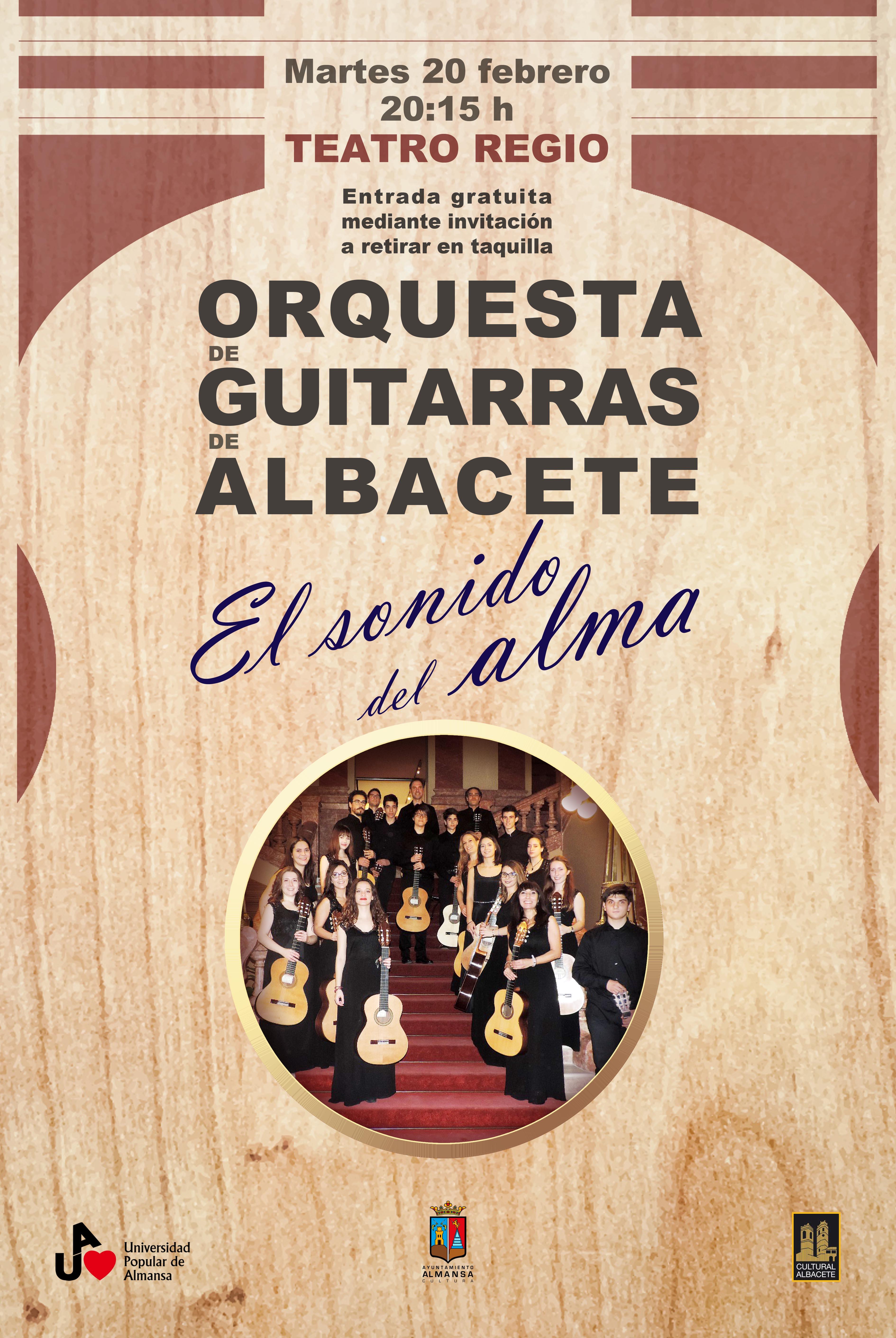 Cartel Concierto orquesta de guitarras-