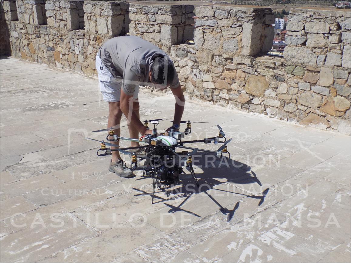 2. Preparación del drone con el que se han obtenido instantáneas HD de toda la fortaleza