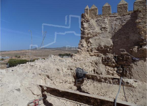 Trabajos previos a la realización del Proyecto de consolidación y recuperación del Castillo.